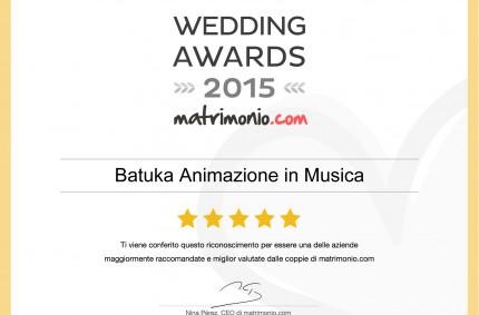 Vincitori degli Wedding Awards 2015