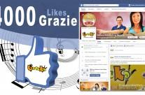 4000 Mi Piace in facebook